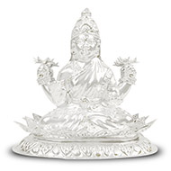 Dhana Laxmi in pure silver