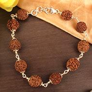 Rudraksha Bracelet in silver - 11 mm