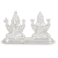 Ganesh Laxmi in pure Silver - Small