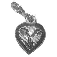 Heart Locket - in Pure Silver - Design II