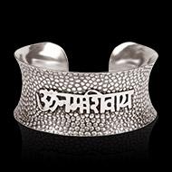 Om Namah Shivaya Bracelet - Pure Heavy Silver
