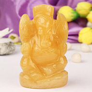 Yellow Jade Ganesh - 161 gms