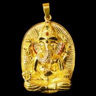 Shree Siddhivinayak Ganesh and Astha Vinayak  Ganesh Locket in 22ct pure gold