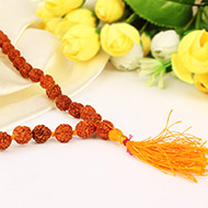 Rudraksha mala in thread - 9mm