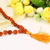 Rudraksha mala in thread - 9mm