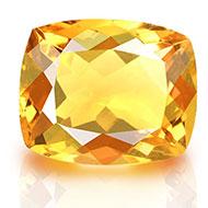 Yellow Citrine - 4.70 carats - Cushion
