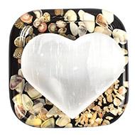 Selanite Hearts - White - III