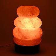 Himalayan Rock Salt Lamp - Spiral Shaped Lamp