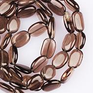 Smoky Quartz oval beads