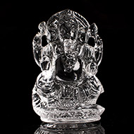 Ganesh Idol in pure quartz - 30 gms - I