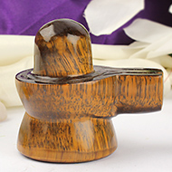 Tiger Eye Shivlinga in  - 120 gms