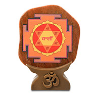 Shree Kamdev Yantra on Orange Jade