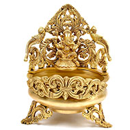 Ganesha Urli in Brass