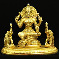 Gajalakshmi in Brass - I