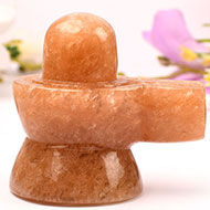 Natural Sunstone Shivaling - 250 gms