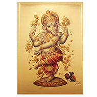 Artistic Ganesh Photo in Golden Sheet - Large