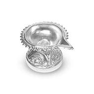Designer Diya in German Silver