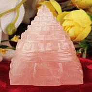 Rose Quartz Shree Yantra - 143 gms
