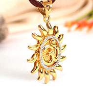 Om Locket in Pure Gold - 3.88 gms