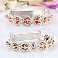 Indrakshi bracelet in silver - Design III