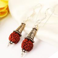 Earrings of Rudraksha Beads - Design VII