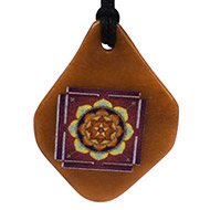 Maha Mrityunjay Yantra Pendant on Orange Jade