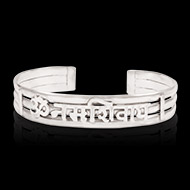 Om Namah Shivaya Bracelet Pure Silver - Design II