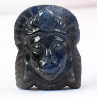 Hanuman in Blue Sapphire-22.85 carats