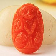 Coral Hanuman - 4 carats