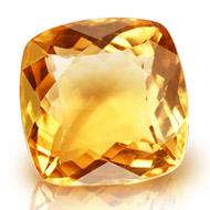 Yellow Citrine - 7.20 carats - Square Cushion