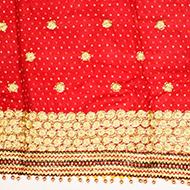 Bandhani golden Mata Ki Chunri