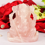 Rose Quartz Ganesha- 1298 gms