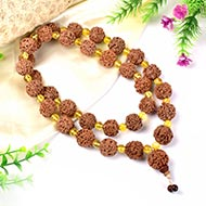 4 Mukhi Brahma Mala with Citrine beads