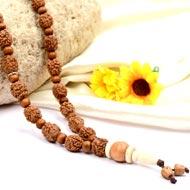 4 mukhi Brahma mala with White Sandalwood beads