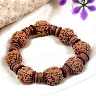 4 Mukhi Nepal Rudraksha beads bracelet - III