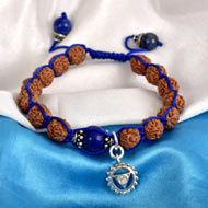 4 Mukhi Rudraksha and Lapis Lazuli Bracelet (Throat)
