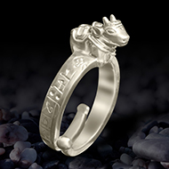 Nandi ring with Shiv Mantra