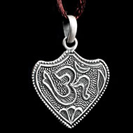Om Locket in Pure Silver - Design XII