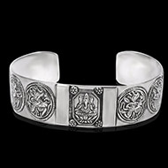 Ganesh Bracelet in pure silver - X