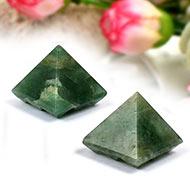Multi Pyramid in Green Jade - Set of 2