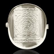 Shree Mahamrityunjaya Yantra Ring in Silver