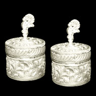 German Silver Containers - Set of 2
