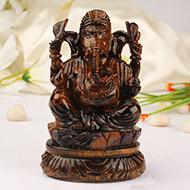 Tiger Eye Ganesha - 353 gm