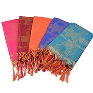 Om Nama Shivaya Shawl in Art Silk