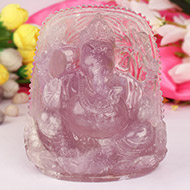 Amethyst Ganesh  Idol - 778 gms