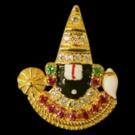 Tirupati Balaji Locket in Gold - Design II