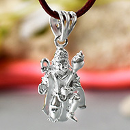 Hanuman locket in pure silver - Design XI
