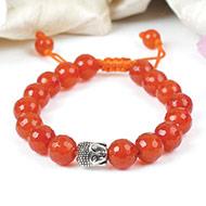 Orange Carnelian with Buddha Bracelet