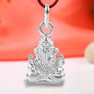 Ganesh Locket in Pure Silver - LI