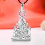 Ganesh Locket in Pure Silver - LI